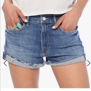NWOT Mother Rascal Slit Flip Shorts Size 25